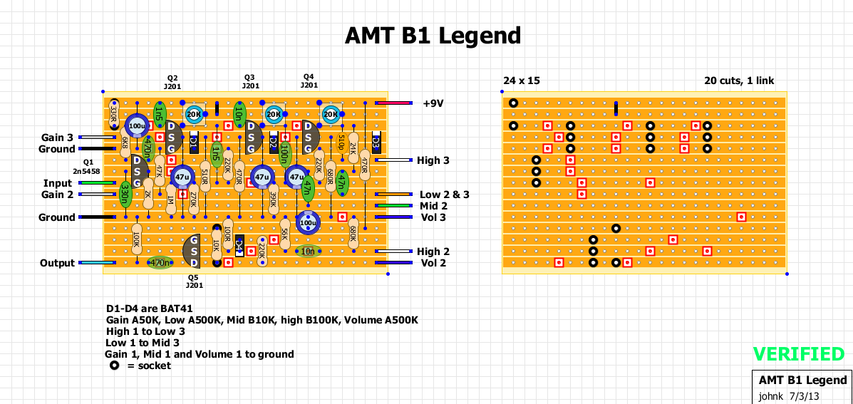 Guitar FX Layouts: AMT B1