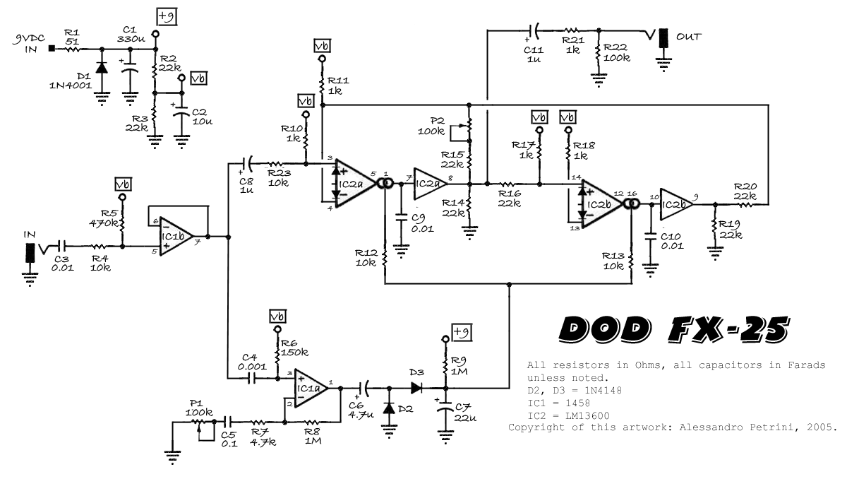 dod fx25 vs dod 440 envelope pedals
