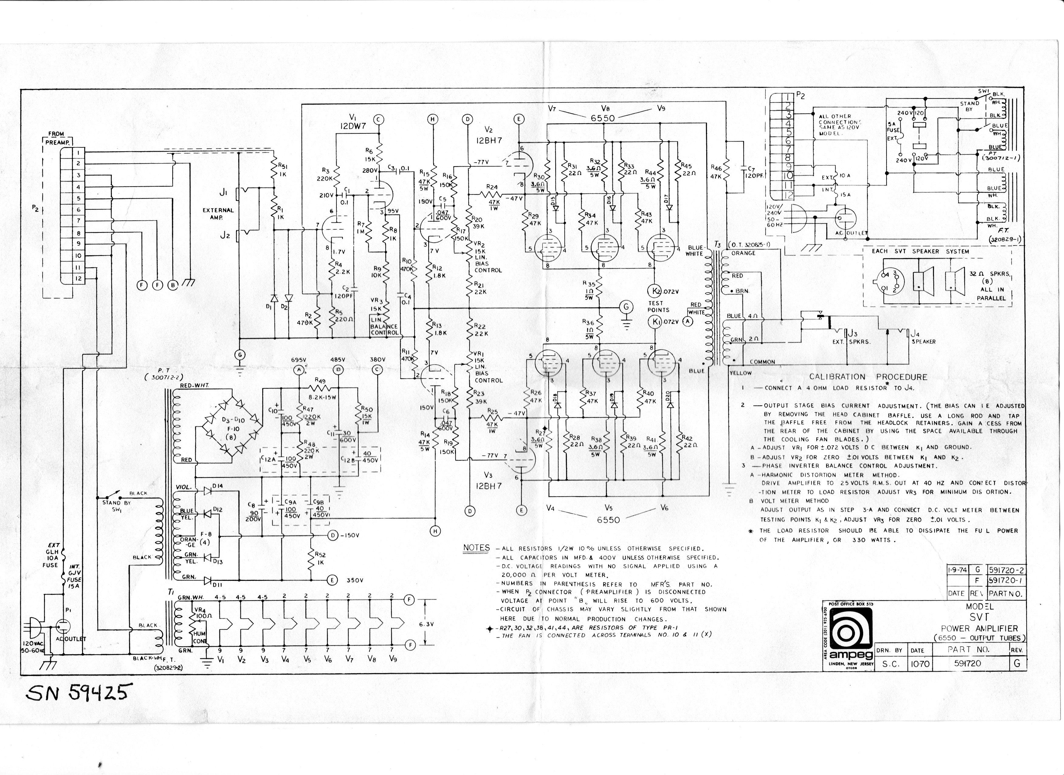 The Vintage ampeg schematics something is