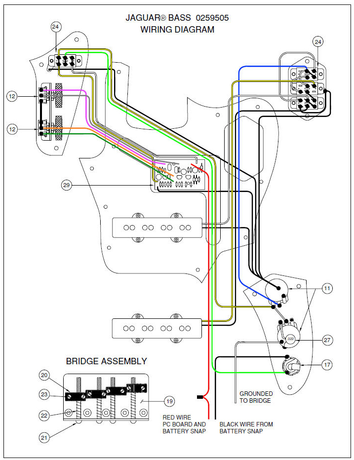 fender jaguar guitar wiring diagram hecho jaguar guitar wiring diagram fender® forums • view topic - modding squier jaguar bass ...